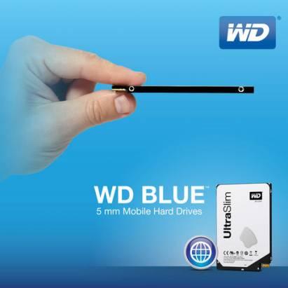 薄到幾乎感受不到它的存在... WD 5mm 2.5 吋系列硬碟正式出貨